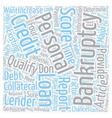 Personal Loan After Bankruptcy Can You Qualify vector image vector image