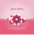 pink background with heart flower vector image vector image