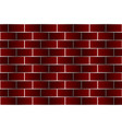 red bricks - pattern vector image vector image