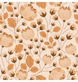 Retro floral beige and brown seamless pattern vector image vector image