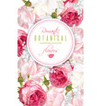 romantic flowers vertical banner vector image vector image