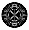 roulette icon black color flat style simple image vector image