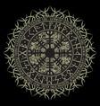 runic scandinavian circle background vector image vector image