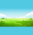 rural landscape with green hills and blue sky vector image