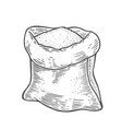 sack with whole flour or sugar vector image