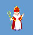 saint nicholas or sinterklaas - cartoon style vect vector image vector image