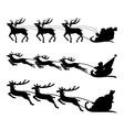 Santa on a sleigh with reindeers vector image vector image
