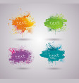 set bright ink blots with place for your text vector image