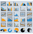 set diagrams and graphs vector image vector image