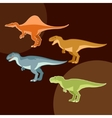 Set of carnivores dinosaurs vector image vector image