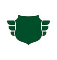 shield green icon outline shape shield simple vector image vector image