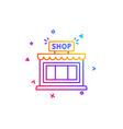 shop line icon store symbol vector image