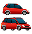 side of the red car vector image vector image