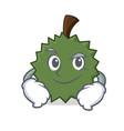 smirking durian character cartoon style vector image vector image