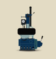 tire fitting machine vector image vector image