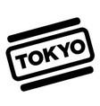 tokyo black stamp vector image vector image