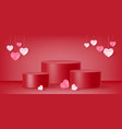 valentines day product display podium heart vector image