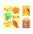 vegan day poster banner flyer world vegetarian vector image vector image