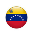 venezuela flag on button vector image