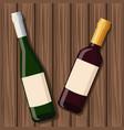 wine bottle design over wooden background vector image vector image