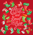 X-mas and New Year card with family Christmas stoc vector image vector image
