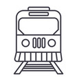 train in city line icon sign vector image