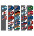 Collection of flags design vector image