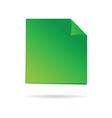 green reminder vector image