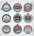 Set of premium quality guaranteed genuine badges vector image