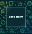 2019-ncov concept colored outline frame vector image vector image