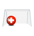 A ball with the flag of Switzerland vector image