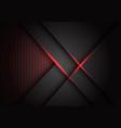 abstract grey metallic overlap red light hexagon vector image vector image