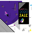 abstract trendy geometric sale design vector image