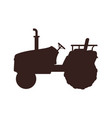 agricultural machinery icon cartoon banner vector image vector image