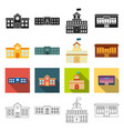 architecture design equipment and other web icon vector image vector image