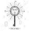 astrology wheel with zodiac signs and key vector image vector image