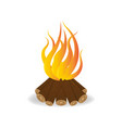 bonfire in cartoon style fire vector image vector image