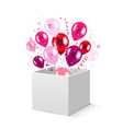 box and balloons vector image vector image