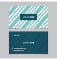 business card pattern blue 03 vector image vector image