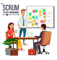Business characters scrum team work