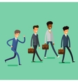 Business concept People follow the leader vector image vector image