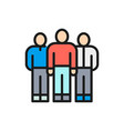 business team people group company vector image