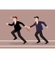 Businessman fail to passing the baton in a relay vector image