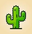 cactus design icon vector image vector image