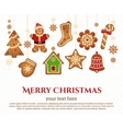 christmas holiday elements vector image vector image