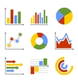 Color Business Graph and Chart Set vector image