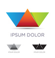 Colorful paper boat emblem vector image