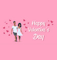 couple in love happy valentines day concept vector image vector image