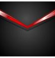 Dark corporate background with glow red arrow vector image vector image