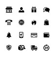e-shop icons vector image vector image